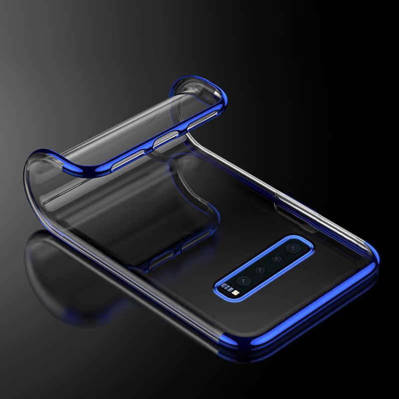 جديد الهاتف حقيبة لهاتف سامسونج S10 شفافة Watanabe لون رقيقة سليم بولي يوريثان الغطاء الخلفي حقيبة لهاتف سامسونج S10E S10 Plus