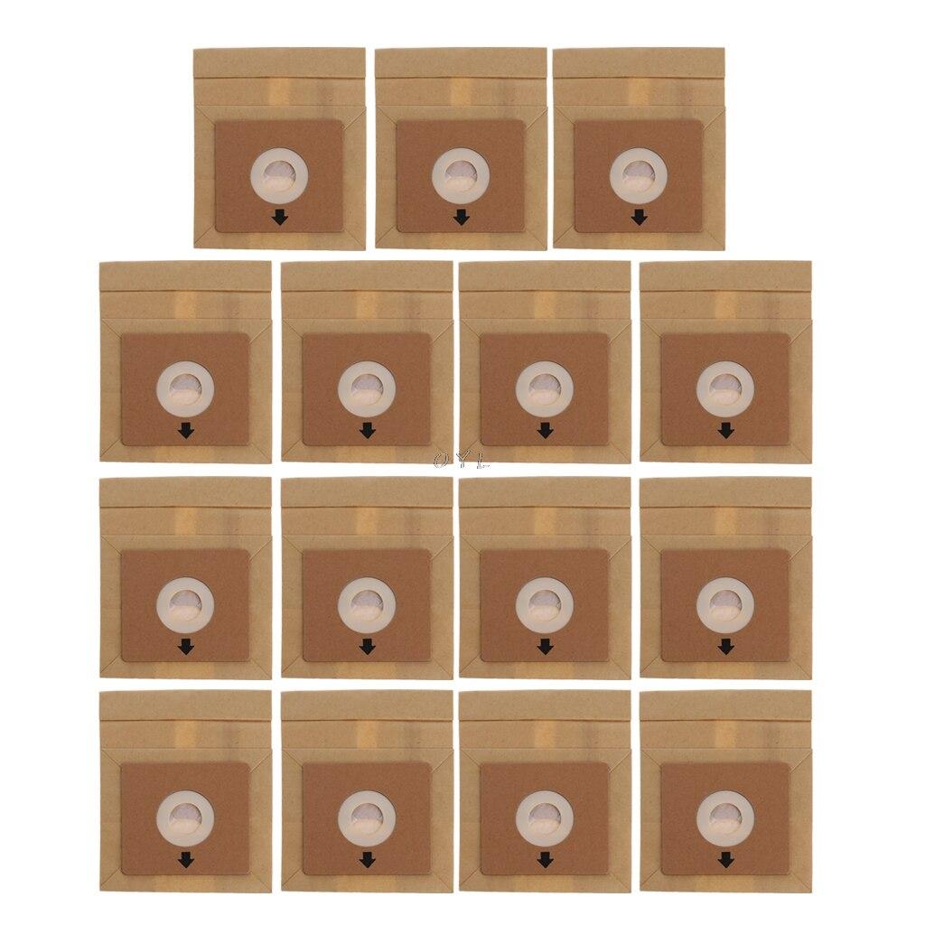 15 pcs aspirateur poussière papier sacs 100*110mm diamètre 50mm accessoires pièces