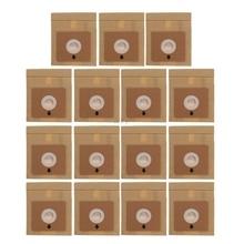 Bolsas de papel para aspiradora, 15 Uds., 100x110mm de diámetro, 50mm, piezas de accesorios
