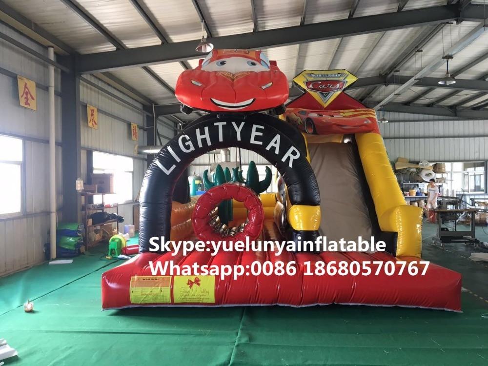 2016 neue fabrik direkt aufblasbare rutsche, auto rutsche, rutsche schloss barriere ky-110