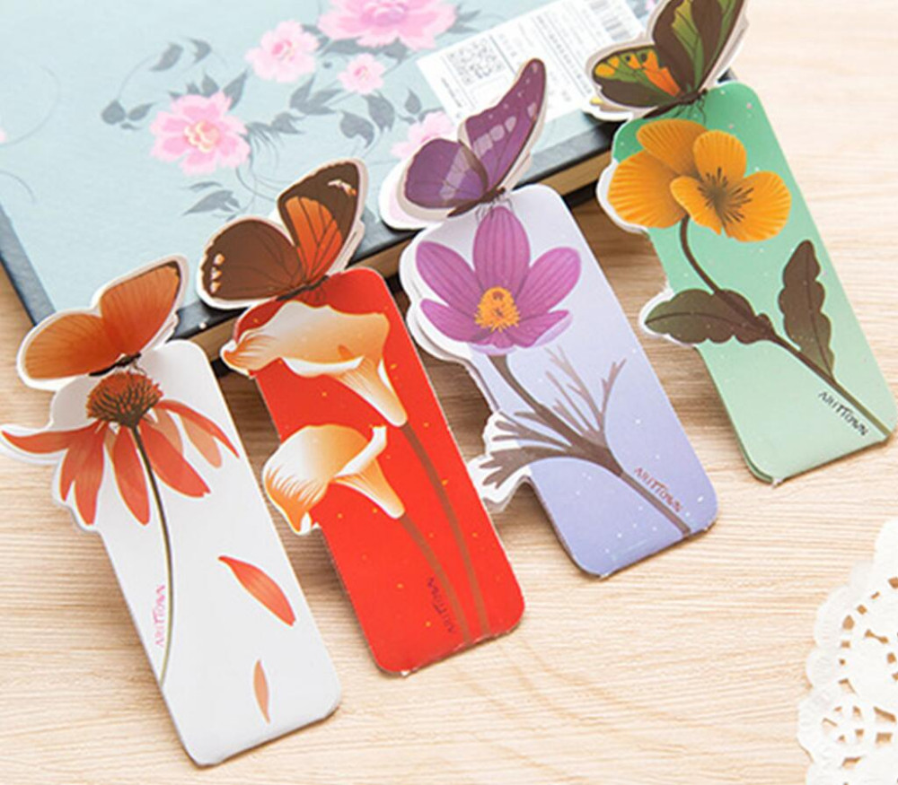 Cute Kawaii Lovely Paper Painted Bookmark Vintage Bookzzi 3d