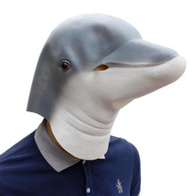 Halloween Mask Lovely Dolphin Animal Full Head Latex Helmet Easter Party Adult Costume Cosplay Masquerade Masks
