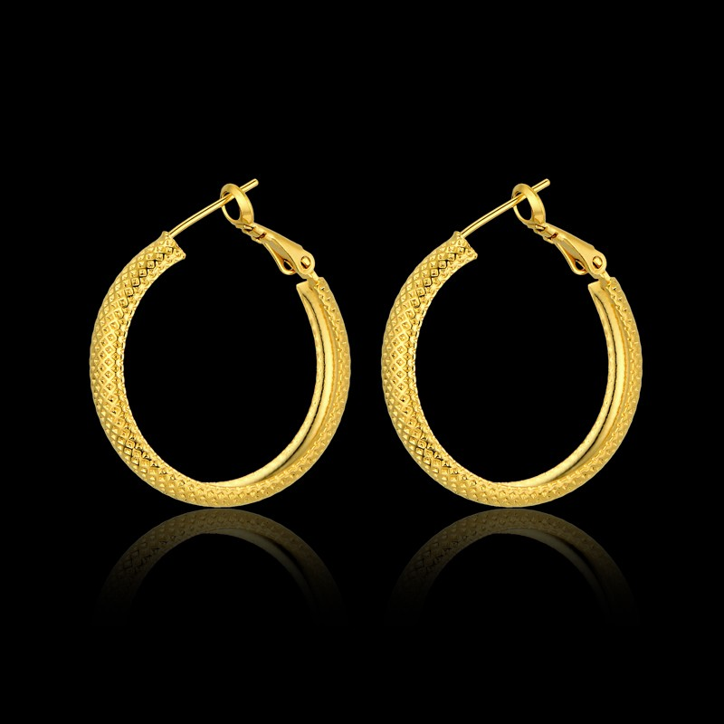 Vintage Creole Circle Hoop Earrings,Gold Color Basketball Wives Earrings Jewelry Gift For Women Brincos
