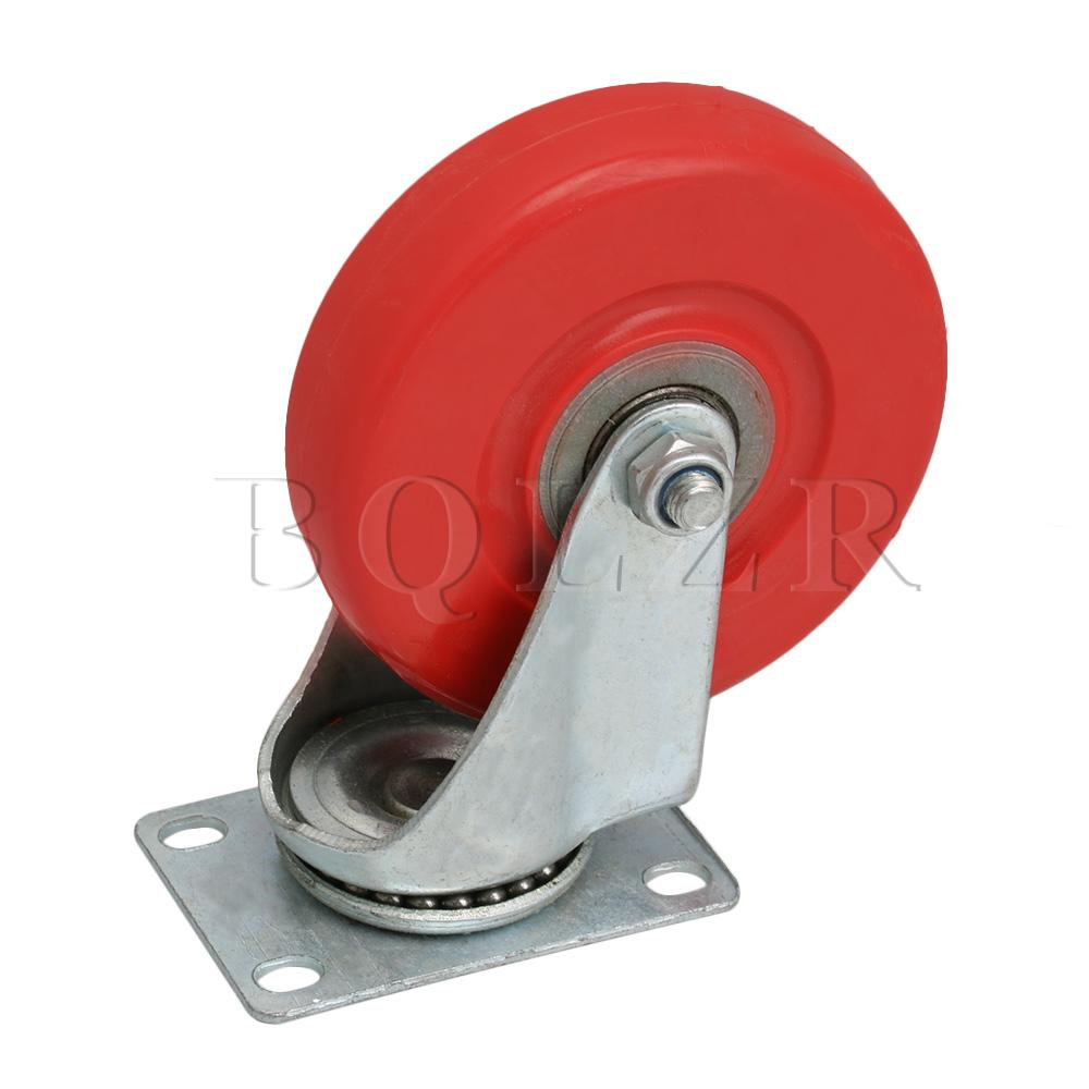 BQLZR 9.4x6.4x15cm Red 5 inch Rotate Casters for Flatbed Trucks Hand Trucks Warehouse Trucks & Various Tool CarsBQLZR 9.4x6.4x15cm Red 5 inch Rotate Casters for Flatbed Trucks Hand Trucks Warehouse Trucks & Various Tool Cars