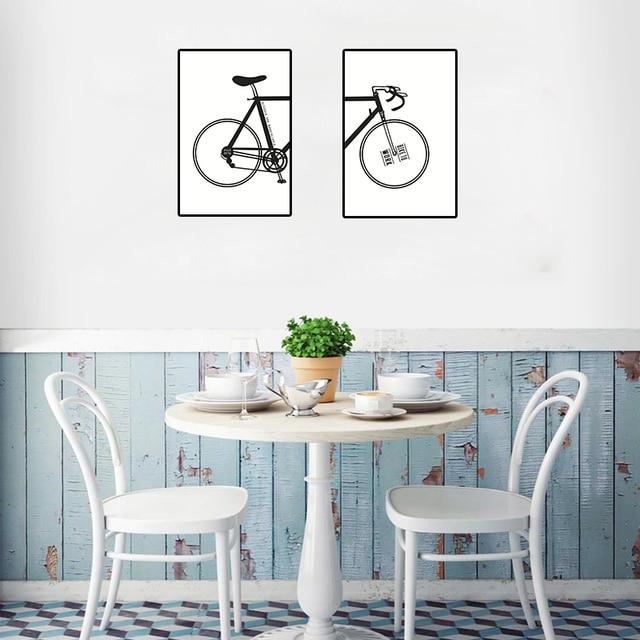 Creative fiets Muur Schilderijen Canvaskunst Poster Muur Foto voor ...