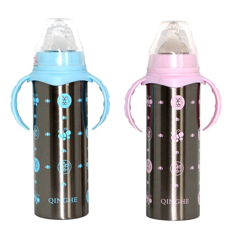 Kids Thermos Baby Bottle Insulation Cup Feeding Bottles For Water Milk Stainless Steel Cups For Newborn Infant Baby Travel Cups