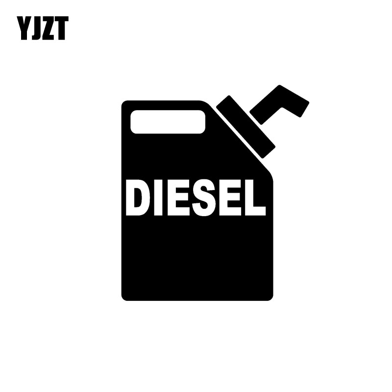 YJZT 11.3CM*13CM Fashion DIESEL Decal Black/Silver Vinyl Car-styling Car Sticker C11-0645