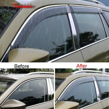 цена на Tonlinker Cover Sticker for SKODA KODIAQ 2017-18 Car Styling 4 PCS ABS Plastic Door Exterior Awnings & Shelters Cover stickers