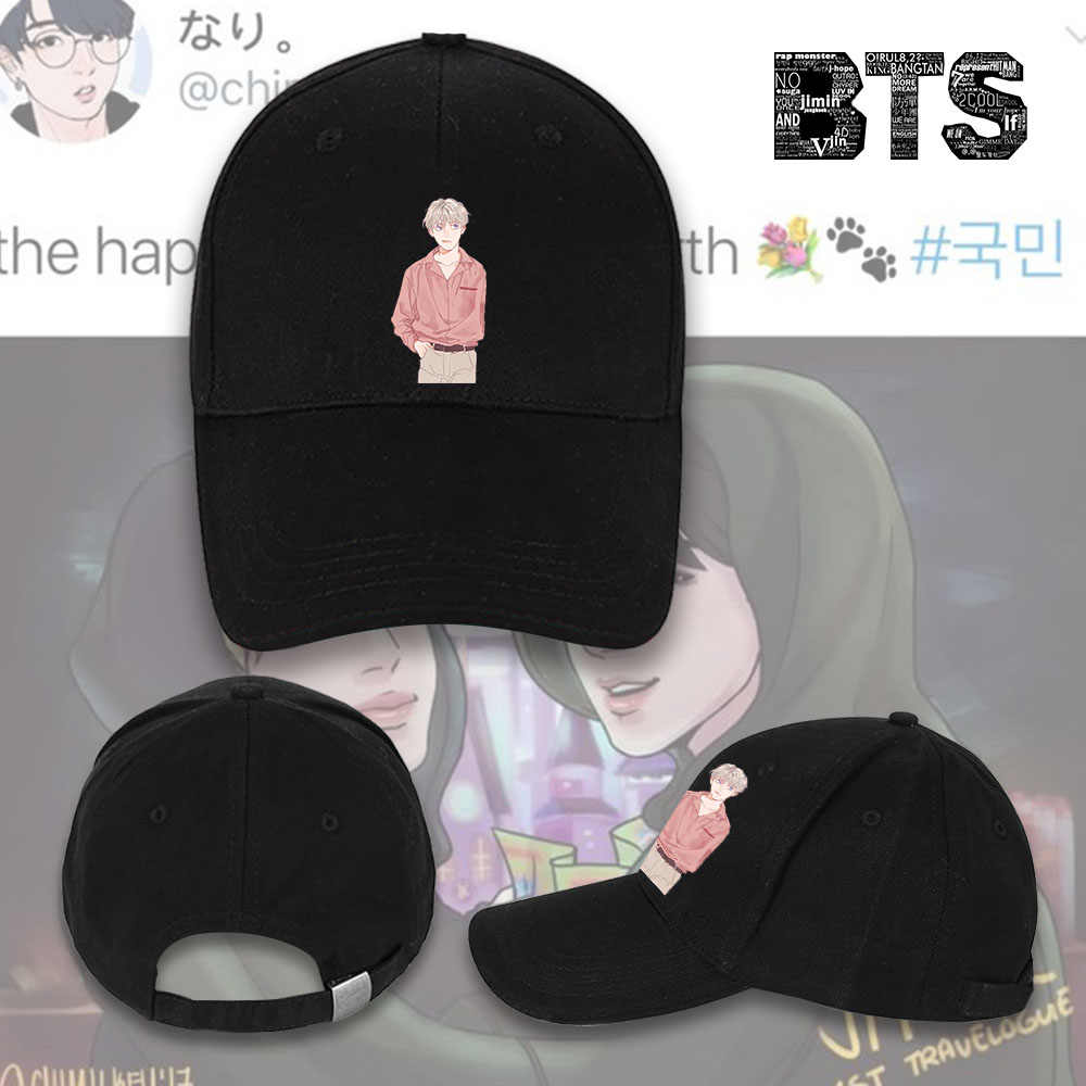Giancomics KPOP Bangtan Boys BTS BT21 Baseball Cap Cosplay Costume  Adjustable Hat Costume Cool Accessory Hip 33f4c4e8d4df