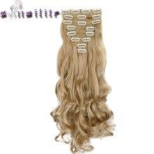 С-noilite Clip en Extensions de Cheveux 8 шт./компл. 24 inch 61 см Длинные Волнистые жаропрочных парики синтетические чёрный; коричневый светлые волосы