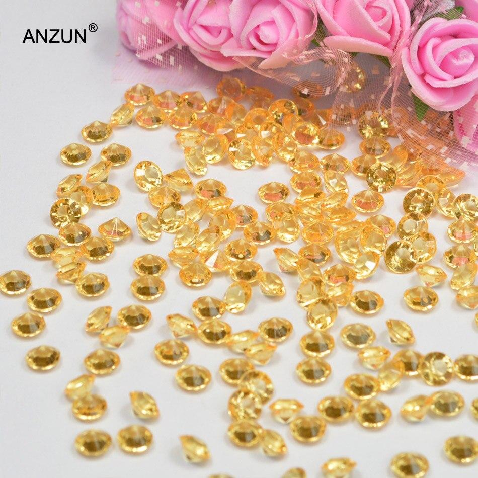 1000 шт 6 мм Свадебная вечеринка алмазные Конфетти Свадебные для декорации стола - Цвет: Light gold