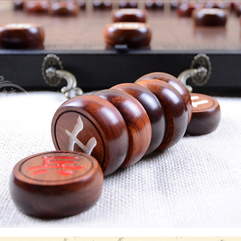 BSTFAMLY Chinese Chess Red Wood Fold Box Size 6 Old Game of Go Xiang Qi International Checkers Folding Toy Gift No Magnetic LC21 цены