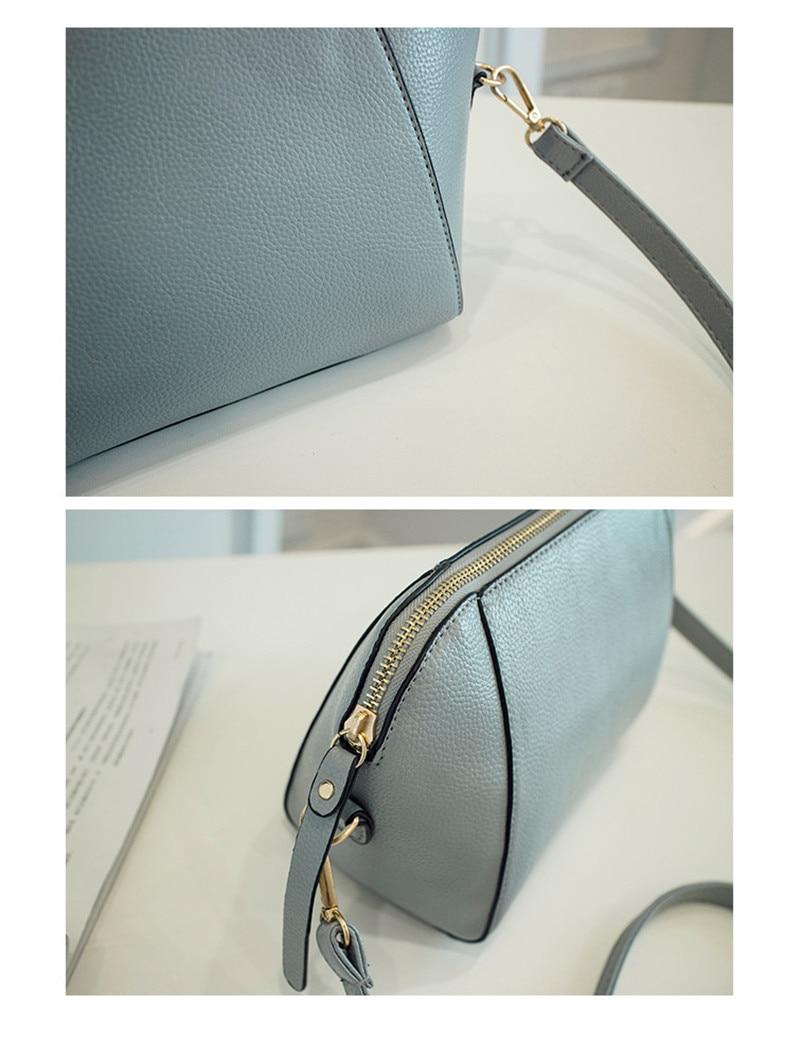 Trendy Japanese and Korean simple shell bag Fashion matches everything female bag small bag single shoulder Messenger bag 45