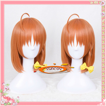 LoveLive Sunshine Cosplay Wig Aqours Takami Chika School Idol Project Orange Short