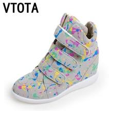 Vtota ботильоны женские туфли на платформе кроссовки женщин  ботинки обувь для женщин обувь женщина ботинки женские осень сапоги зимние женские женская обувь на платформе клинья туфли кроссовки  Ботильоны клинья X761