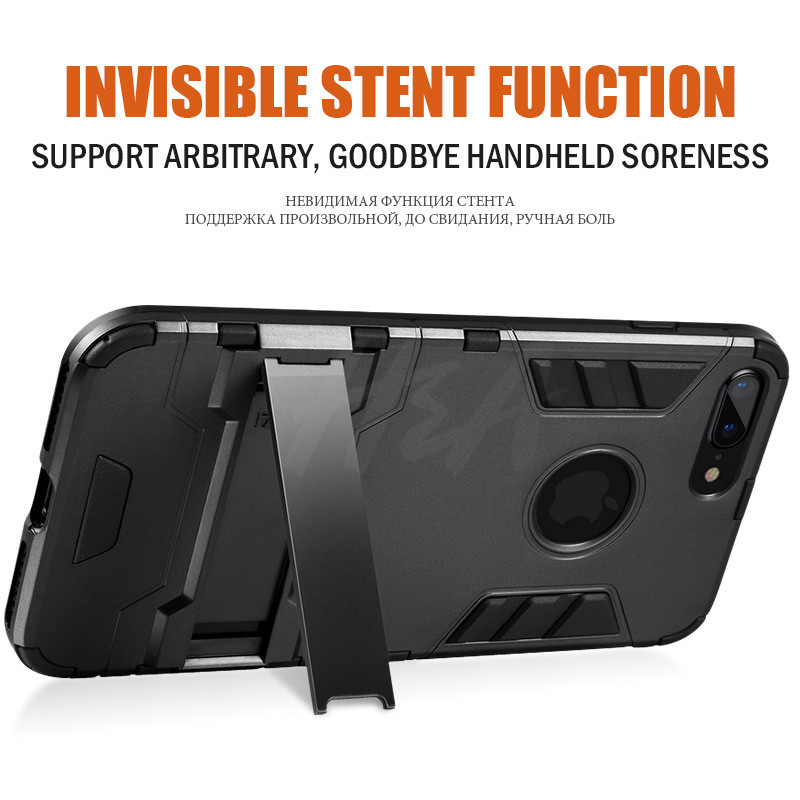 Shockproof Armor Phone Case For iPhone X 5 5s 6 8 7 Plus TPU + PC Protective Case 4