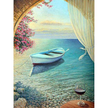 Sell Well DIY Diamond Painting Seascape Embroidery Cartoon Full Square Rhinestones Home Decor Gift