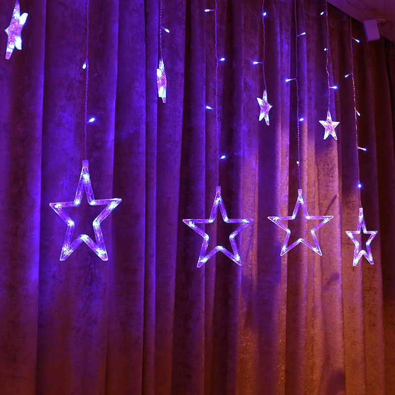 2019 Newest LED Strip Stars String Lights Rechargeable Battery Home Window Curtain Wedding Festival Decoration Lamp Ship from RU in Curtains from Home Garden