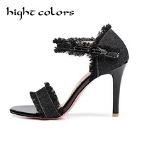 Fashion High Heels Hollow Open Toe Women Pumps Women Shoes Cut Outs Shoes Spring Summer Stiletto
