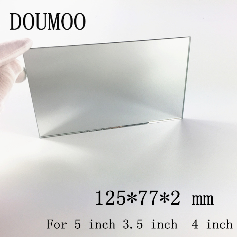 2PCS 125*77*2 mm Mini Projector Reflector Projector Mirror DIY Accessories High Reflectivity Lens for 5 inch 3.5 inch 4 inch