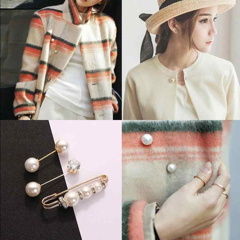 2018 mode 1Pc Frau/Mädchen Imitation Perle Brosche Klassische Charme Hohe Qualität Zubehör Einfache Doppel Perlen Broschen Allgleiches