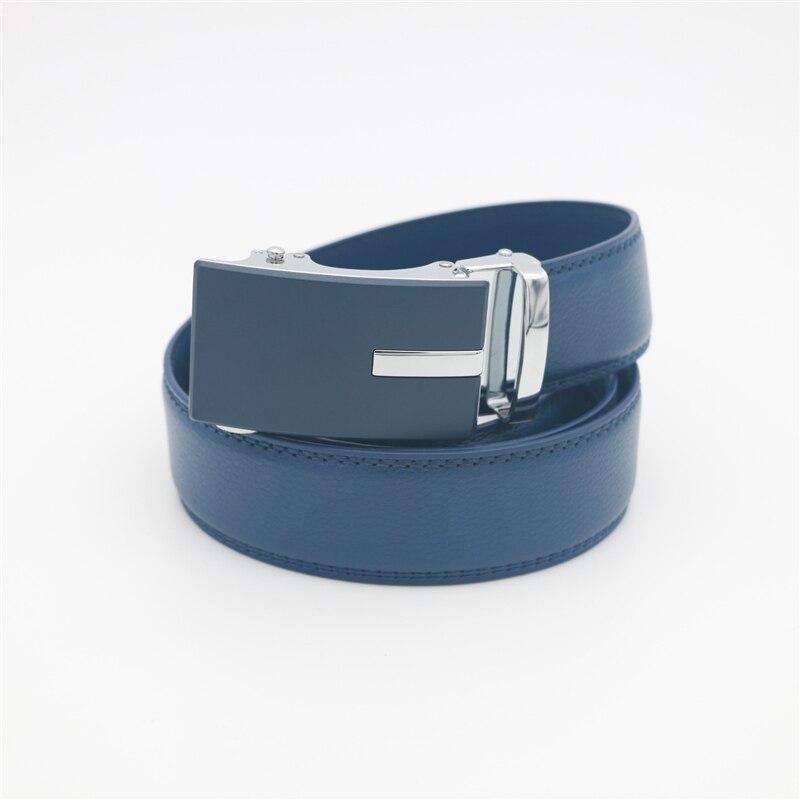 Image 5 - WESTERN AUSPICIOUS Genuine Leather Belt Men Blue Strap Automatic Male Belts Super Cinturon HombreMens Belts   -