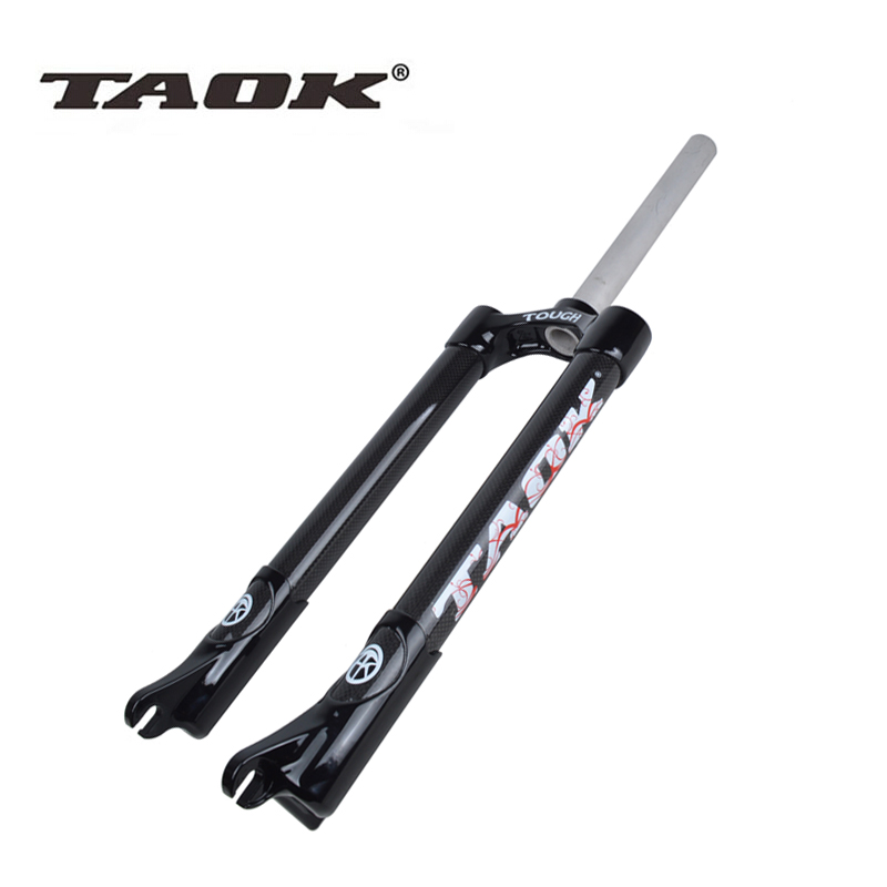 TAOK lightweight aluminum 3K carbon fiber disc brakes front fork 26-inch mountain bike hard carbon fiber fork free shipping d09 aluminum alloy bicycle cnc front fork washer blue white 28 6mm