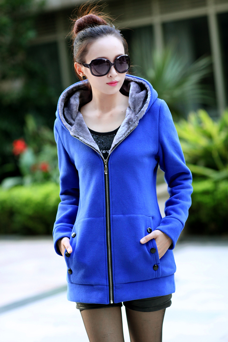 Women Fashion Autumn Winter Thicken Sports Cotton Coat ladies Solid Hooded Warm Jacket Outerwear female padded parka overcoat
