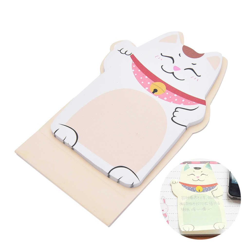 Kawaii น่ารักแมวโชคดีสัตว์ MINI Planner สติกเกอร์ Notepad วัสดุโรงเรียน Sticky Memo วาระหมายเหตุสำหรับนักเรียน