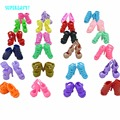 Random 10 Pairs Colourful Shoes Fashion Mix Style High Heels Sandals For Barbie Doll Clothes Outfit Dress Accessories Kids Gift