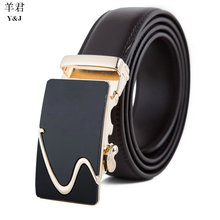The explosion automatic L mens Genuine leather V Cowhide gg belts for jeans ceinture homme business high quality alligator skin(China (Mainland))