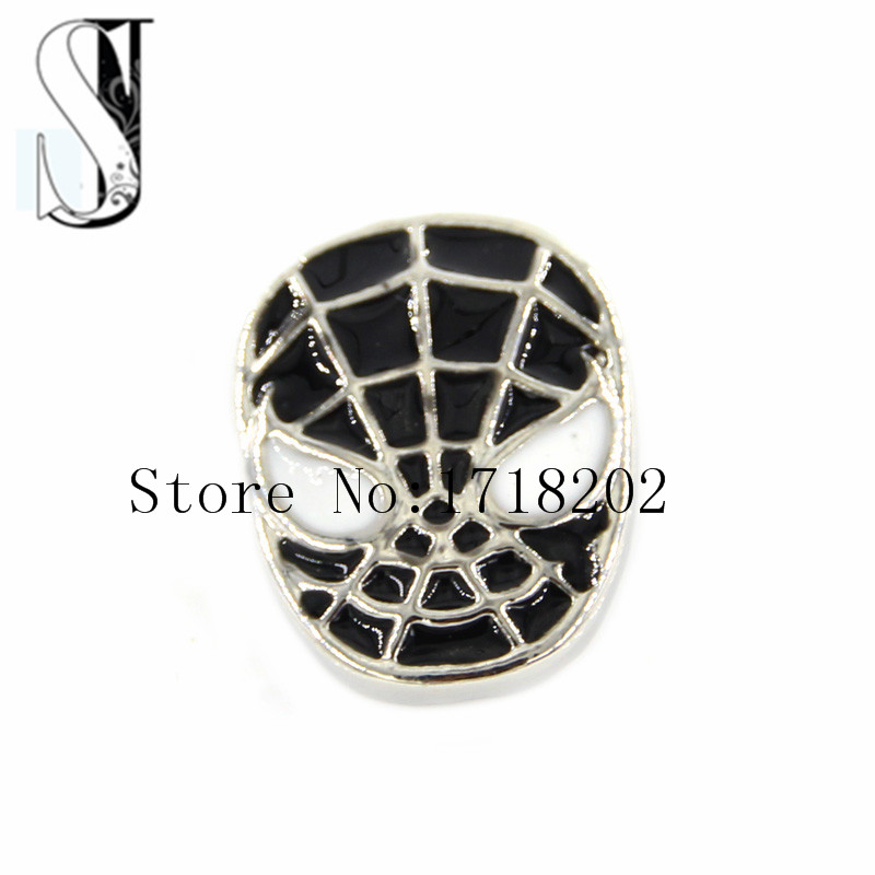 Funky Spider-Man <font><b>Mask</b></font> Snap <font><b>Buttons</b></font> Chunky <font><b>Spiderman</b></font> Cartoon Black Snap <font><b>Button</b></font> Interchangeable Ginger Jewelry SB1318
