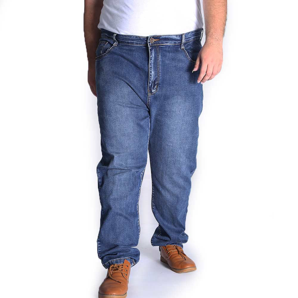 Thick Relaxed Fit Straight Jeans Men Oversize Casual Denim Trousers Fat Large Plus Size 44 46 48 50 52 Autumn Winter 2017 regular fit plus size mens straight jeans classic blue drawstring waist oversize denim trousers s 7xl 29 48