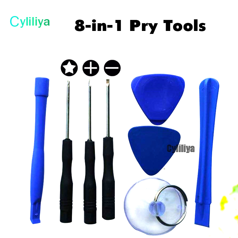 Cell Phone Reparing tools 8 in 1 Repair Pry Kit Opening Tools Pentalobe Torx Slotted screwdriver