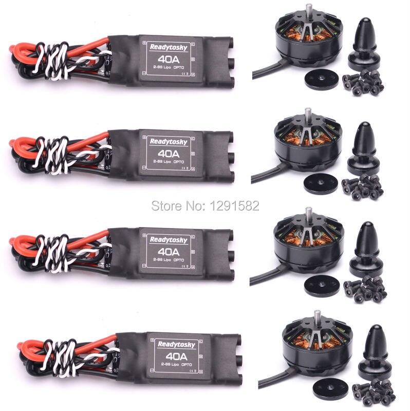3508 580kv 브러시리스 모터 + readytosky/hobbywing 40a esc opto 2 6 s zd550 zd850 fpv multirotor quadcopter-에서부품 & 액세서리부터 완구 & 취미 의  그룹 1