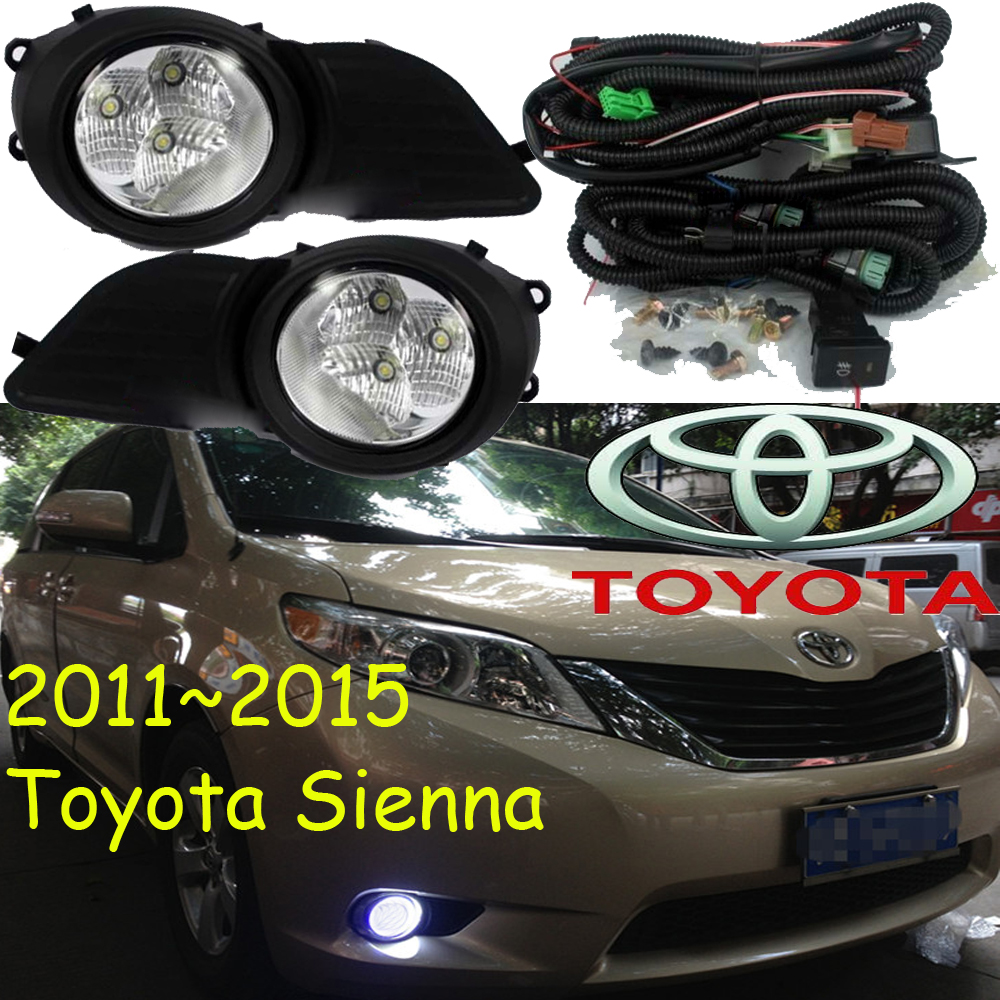car-styling,Sienna LED light,2011~2015,Free ship!2pcs/set,Sienna fog light;car-covers,Sienna headlight,car covers,Chrome,Sienna roomble соусник sienna