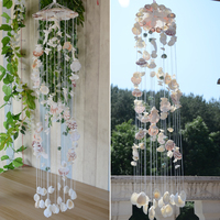 Creative 19 Hand Japanese Plain Colour Shell Wind Bell Birthday Gifts Bedroom Balcony Pendant Door Decoration Home Decorations