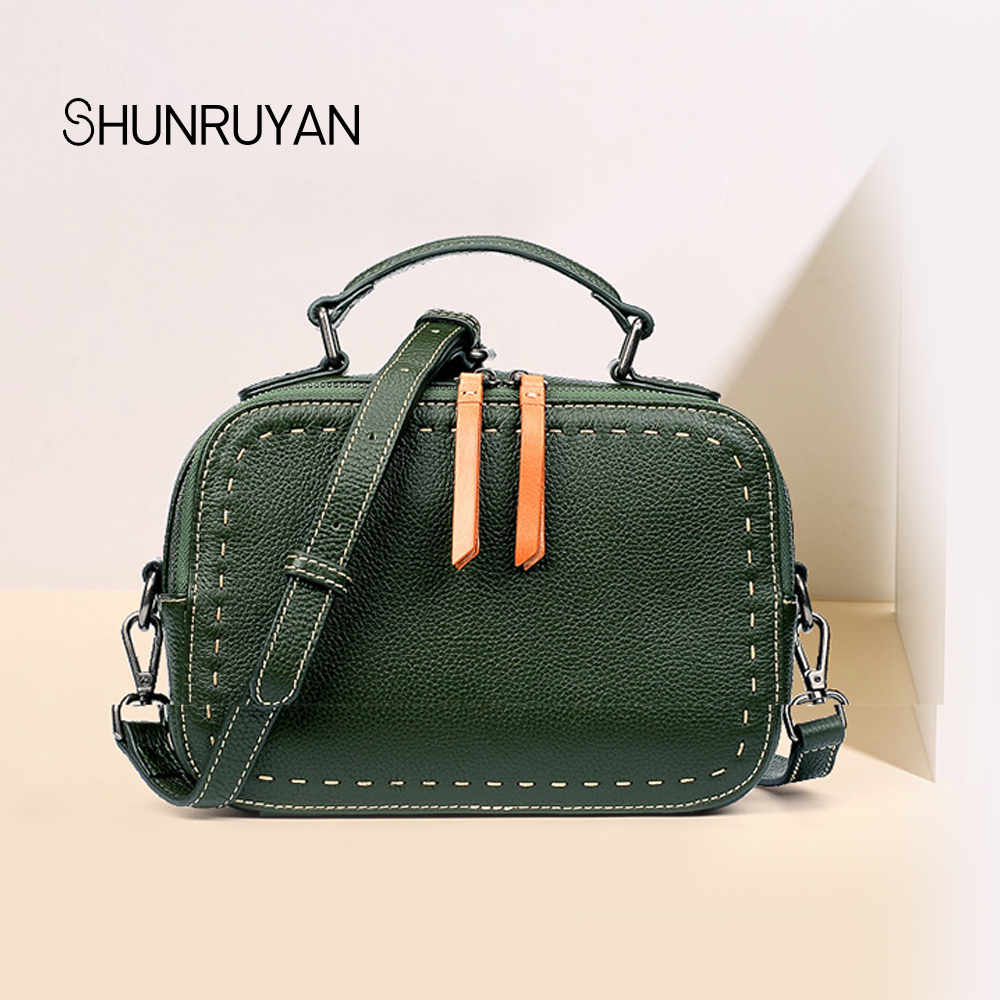 SHUNRUYAN women messenger bags cross body designer handbags genuine leather women handbag famous brand bolsos purse shoulder bag все цены