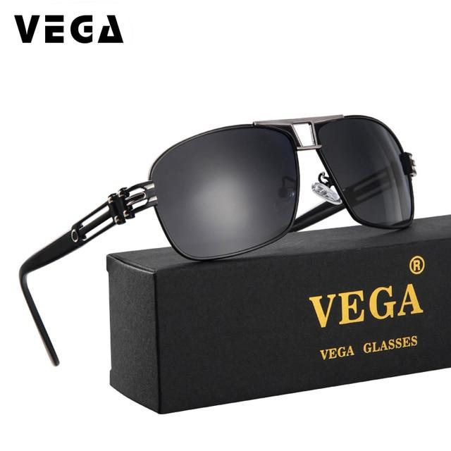 26b6757b9 VEGA Óculos Polarizados Super Cool Militar Para A Polícia de Condução Dos Homens  UV400 Quadrado Anti
