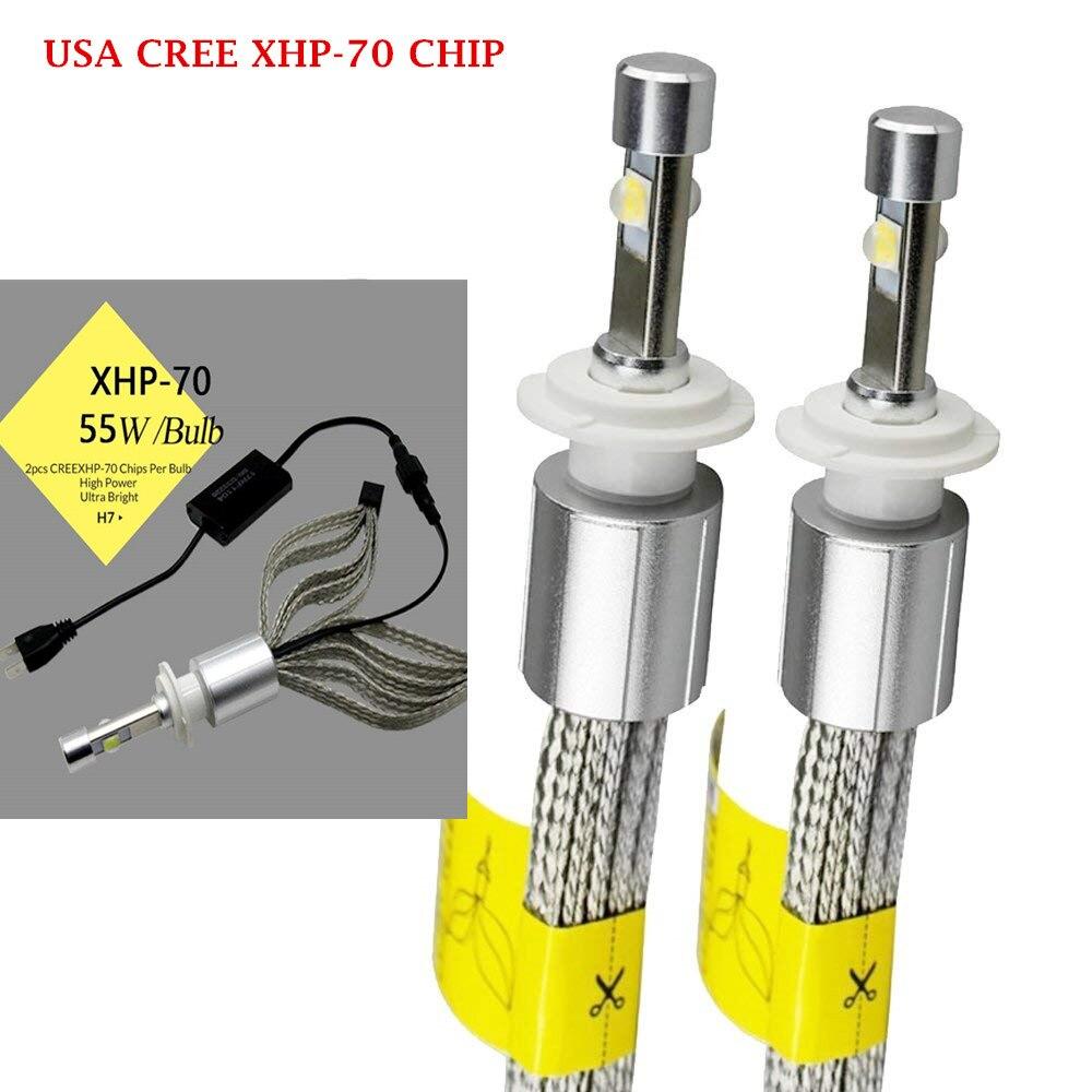Error Free Canbus Car Fanless Copper Belt <font><b>LED</b></font> Headlight Kit Cree <font><b>xhp70</b></font> Chip <font><b>LED</b></font> 6000K 55W bulb H4 H7 H8 H11 9005 9006 H1 H3 9012