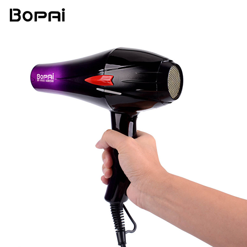 Professional 4000W Powerful Hair Dryer Fast Styling Blow Dryer Hot And Cold Adjustment Air Dryer Nozzle For Barber Salon Tools