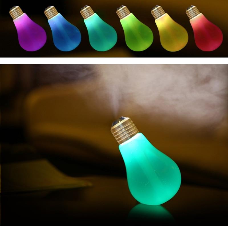 USB Portable 400ml LED Lamp Air Ultrasonic Humidifier For Essential Oil Air <font><b>Freshener</b></font> Mist Maker Night Light Bulb
