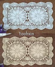 HOT White Cotton Crochet handmade tablecloth mantel lace Christmas rectangular Table Cover cloth Xmas home party wedding decor