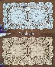 HOT White handmade Cotton Crochet tablecloth tea coffee lace Christmas rectangle Table Cover cloth dining Easter wedding decor(China)