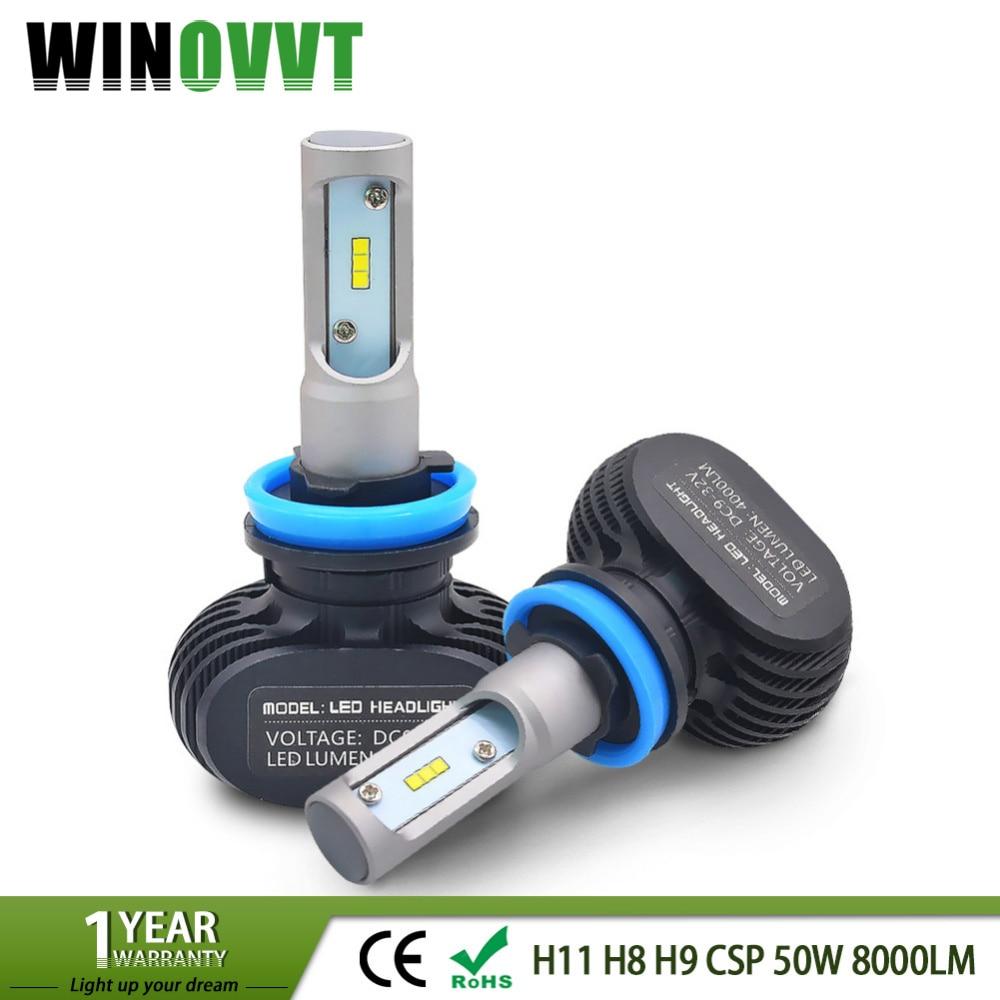 All in One H1 Led Bulbs Auto Car Headlight Single Beam 50W 8000LM Automobile Lamp Fog Light 6000k 12V