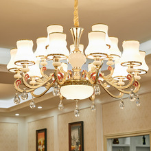 European crystal chandelier modern minimalist luxury atmosphere living room dining lamp