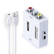 HDMI TO AV Scaler Adapter HD Video Converter Box HDMI to RCA AV/CVSB L/R Video 1080P HDMI2AV Support NTSC PAL 5 pcs standard hdmi interface mini hd video converter box hd to av cvsb video ntsc pal output hdmi to av adapter hdmi2av