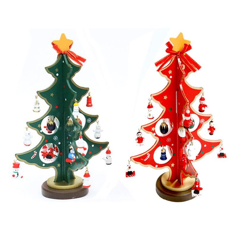 small wooden christmas tree decorations - Rainforest Islands Ferry - mini christmas tree decorations