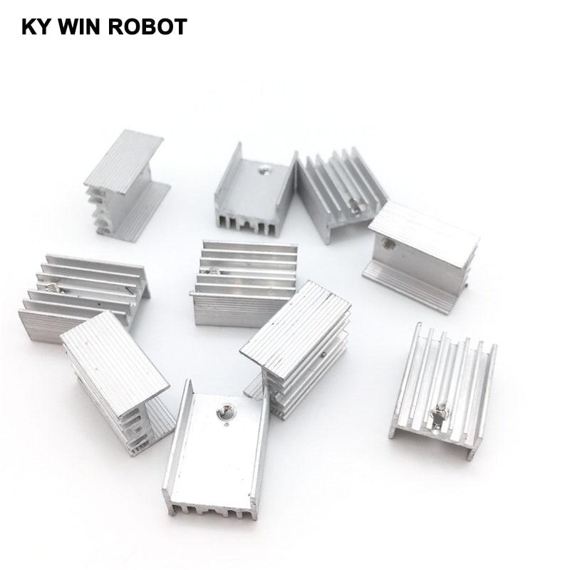 10pcs Free Shipping Aluminium TO-220 Heatsink TO 220 Heat Sink Transistor Radiator TO220 Cooler Cooling 20*15*10MM