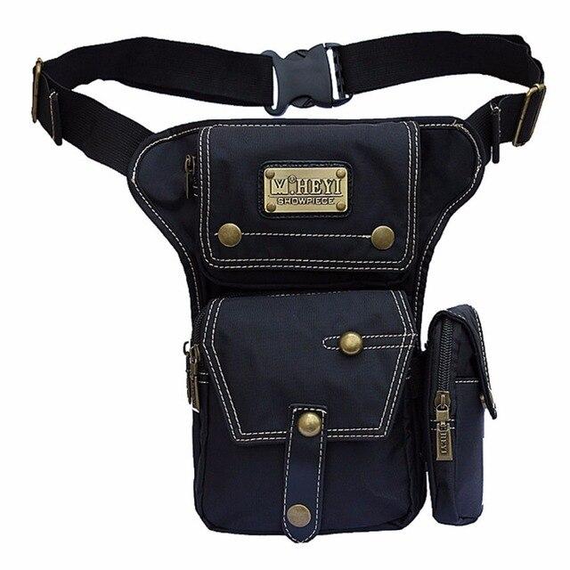 High Quality Waterproof Nylon Men Leg Bag Belt Fanny Waist Motorcycle Ride Punk Rock Famous Riding Messenger Shoulder Pack